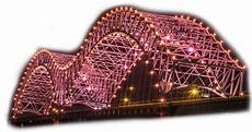Hernando De Soto Bridge Lights Mighty Lights