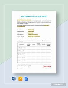Restaurant Forms And Templates 9 Hotel Restaurant Survey Examples Pdf Word Examples