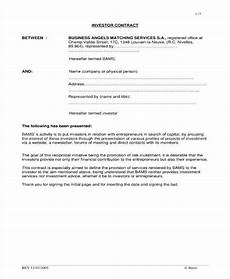 Sample Investor Agreement 6 Small Business Investment Agreement Templates Pdf