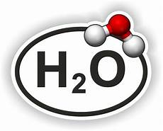 Chemical Equation For Water H2o Oval Sticker Water With Chemical Formula Bumper Decal