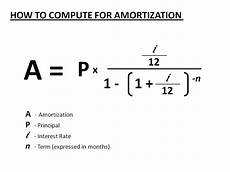 Formula To Amortize A Loan How To Compute The Monthly Amortization