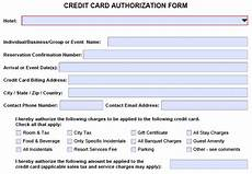 Hotel Credit Card Authorization Form Hotel Credit Card Authorization Form Change