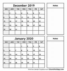 Calendar January December 2020 December 2019 January 2020 Printable Calendar 2018 Calendar