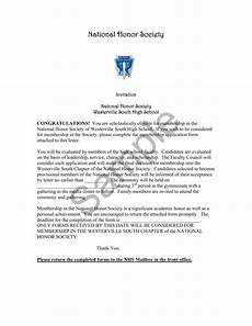 National Honor Society Letter Of Recommendation From Coach National Honor Society Invitation And Application