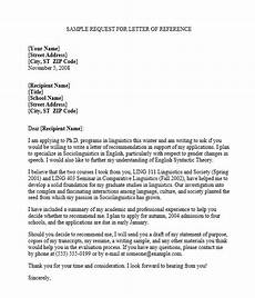 How To Ask For A Recommendation Letter For Grad School 4 Professional Reference Letter Samples Free Word Amp Pdf