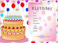 Birthday Invitations Templates Free Download 10 Free Birthday Invitation Templates Free Word Templates