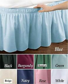 wrap around dust ruffle cotton blend bed skirt 14 inch