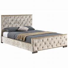 fabric bed ottoman 4ft6 upholstered velvet linen