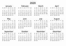Download Yearly Calendar 2020 2020 Yearly Calendar Free Download Jpg Format