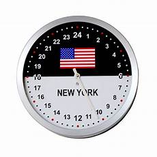 24 Hour Clock Time Roco Verre 24 Hour Time Zone Flag Wall Clock Etsy