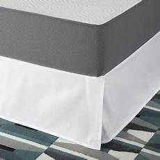 zinus smartbase easy on easy bed skirt for 18 inch