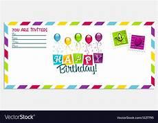 Birthday Invite Images Happy Birthday Invitation Card Royalty Free Vector Image