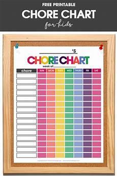 Chore Chart Kits Chore Chart For Kids Free Printable Chore Chart That Works