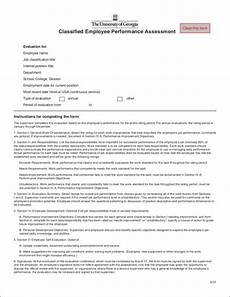 Employee Assessment Form Free Employee Performance Evaluation Goals 10 Samples