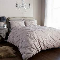 pintuck duvet cover set with pillow cases luxury