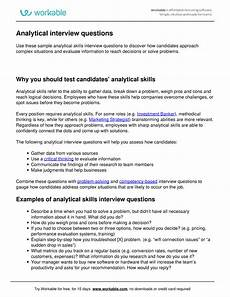 Analytical And Problem Solving Skills Analytical Skills Interview Questions Practise 069500