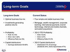 Long Term Goals Examples U S Bancorp Creating Shareholder Value Capital Management
