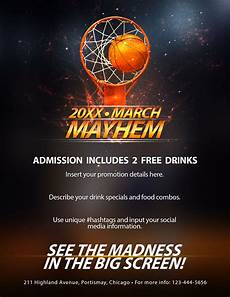 Basketball Flyer The Madness Begins Free 5 Basketball Flyers In Psd For
