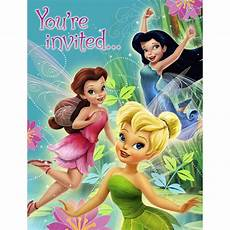 Tinkerbell Invitation 8 Disney Tinkerbell Fairies Invitations Princess
