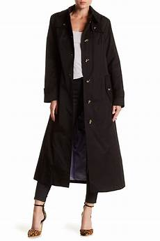 hooded trench coats for lyst fog hooded trench coat in black