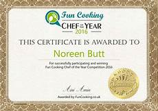 Certificate For Competition Fun Cooking Chef Of The Year Competition 2016 Funcooking