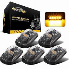 Installing Cab Lights 2017 F250 5pc Clear Lens Amber Led Cab Roof Lights For Ford F250