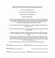 Catering Contracts Samples Catering Contract Templates Word Excel Samples