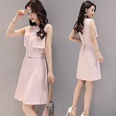 2017 summer new korean fashion simple waist sleeveless