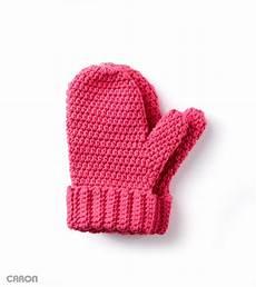 caron crochet mittens crochet pattern