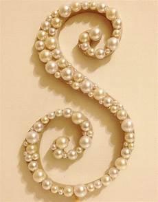 diy pearl wedding cake topper curly pearl monogram wedding cake topper font 2 wood