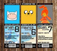 Adventure Time Party Invitations Novel Concept Designs Adventure Time Birthday Party