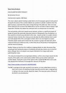 Essays On Privacy News Story Analysis