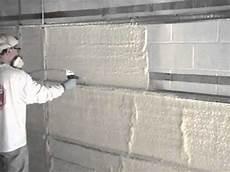 Insulating Concrete Block Walls Interior Concrete Block Wall Application Youtube
