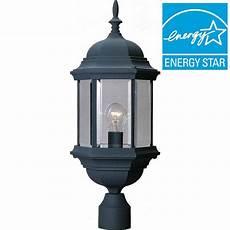 Intertek Lighting Home Depot Volume Lighting 1 Light Black Outdoor Post Mount V8126 5