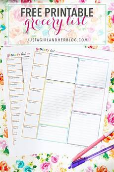 Free Shopping List An Organized Grocery List And Free Printables