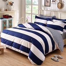 blue and white striped bedding and bedroom designs