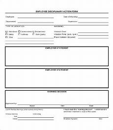 Employee Disciplinary Action Form Word Disciplinary Action Form 20 Free Word Pdf Documents