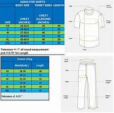 Body Size Chart Body Size Chart