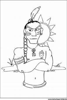 indianer ausmalbild zum gratis