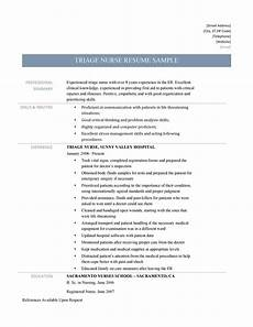 Rn Duties For Resume Triage Nurse Resume Sample And Job Description By Online