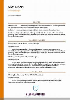 Resume Format Accountant Accountant Resume Sample 2016