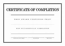 Blank Certificate Of Completion Template Certificate Of Completion Templates At
