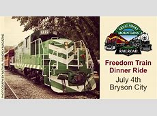 Freedom Train Dinner Ride   Great Smoky Mountains Railroad