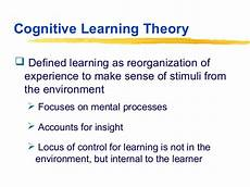 Cognitive Learning Definition Class 6 Highlights Of Theoretical Orientations To