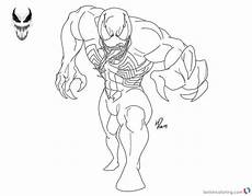 Easy Venom Coloring Pages Venom Coloring Pages Black And White Lineart By