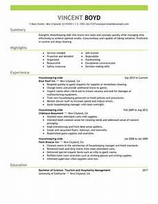 Housekeeping Aide Resume Best Housekeeping Aide Resume Example Livecareer