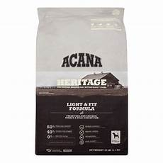Acana Light Dog Food Acana Heritage Light And Fit Formula Grain Free Dry Dog
