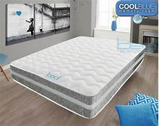 cool blue memory foam silver crushed mattress 3ft single