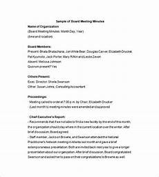 Sample Of Corporate Minutes Board Of Directors Meeting Minutes Template 12 Example