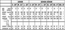 Shin Pads Size Chart Shin Guard Shin Pad Guide For Hockey Players